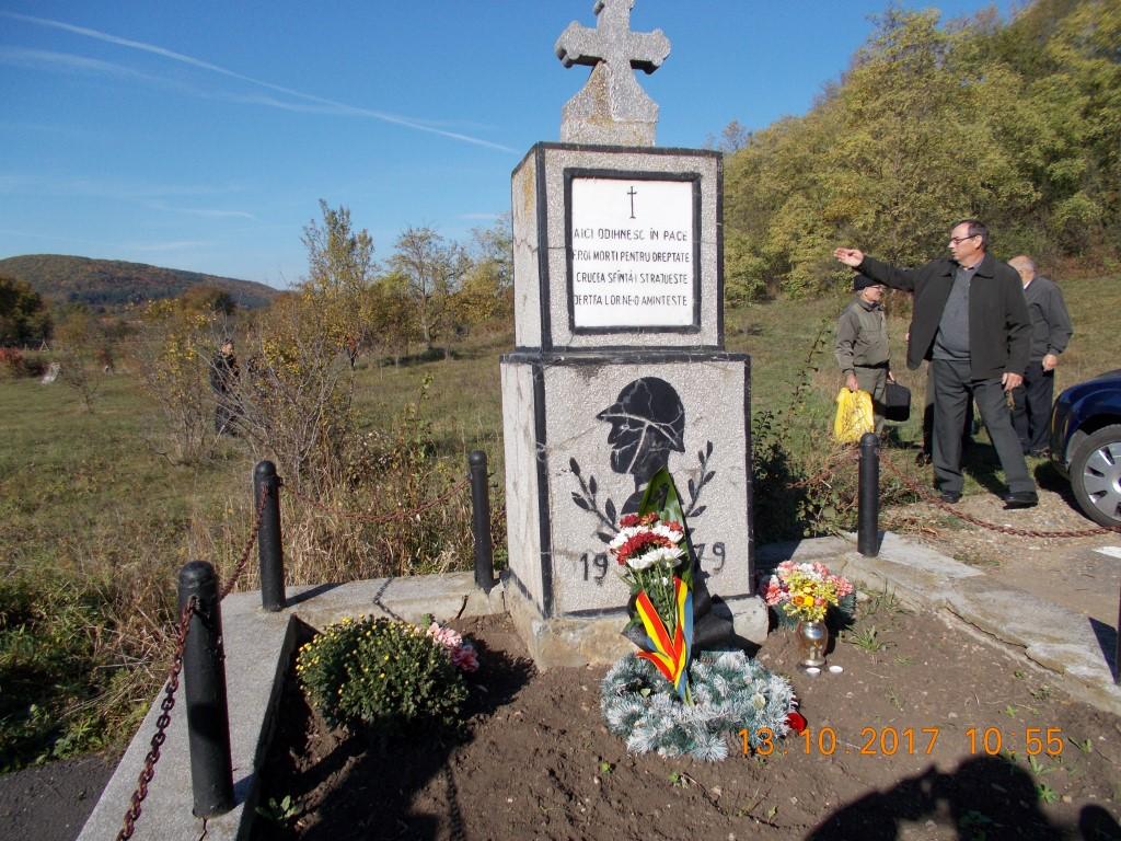 Comemorarea soldaţilor români căzuți pentru eliberarea comunei Gilău, octombrie 1944