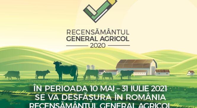Anunț important privind recensământul general agricol 2021